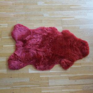 Červená ovčia kožušina - Single