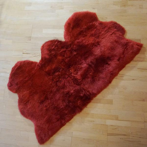 Červené ovčie kožušiny - Tripple