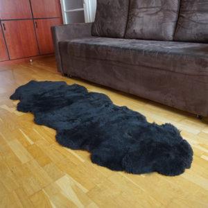 Strihané tmavé ovčie kožušiny - Double 2