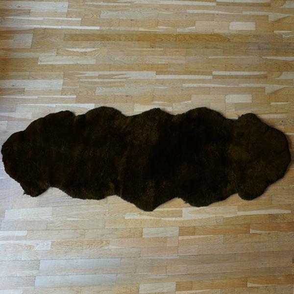 Strihané tmavé ovčie kožušiny - Double