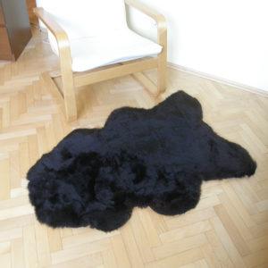 Strihaná tmavá ovčia kožušina - Single