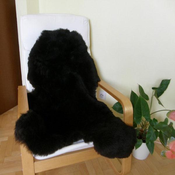 Strihaná tmavá ovčia kožušina - Single 2