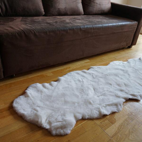 Strihané biele ovčie kožušiny - Double 3