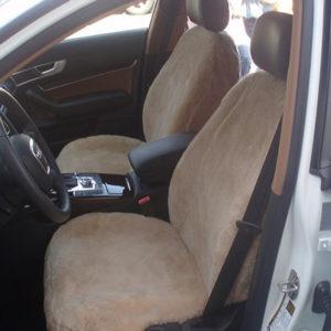 Kožušinový autopoťah - béžový