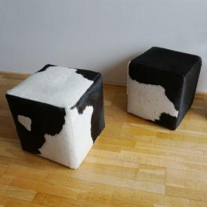 taburetky z hovadzej koze