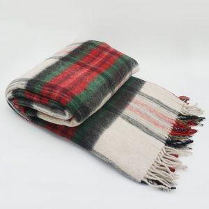 Vlnená deka - karo