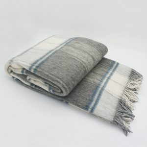 Vlnená deka - sivá