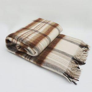 Vlnená deka - svetlohnedá