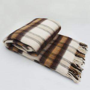 Vlnená deka - tmavohnedá