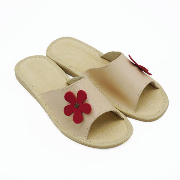 Dámske kožené papuče / šľapky