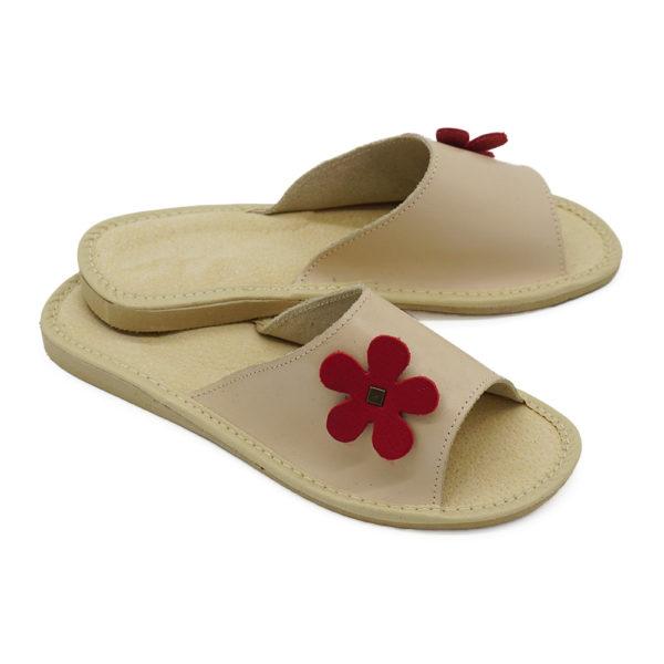 Dámske kožené papuče