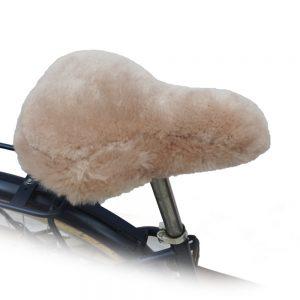 Poťah sedadla na bicykel z ovčej kožušiny
